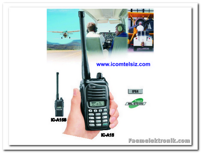 ICOM TELSIZ IC-A15 / IC-A15S AIR BAND (HAVA) TELSIZI